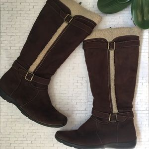Naturalizer Boots Brown Suede Size 8